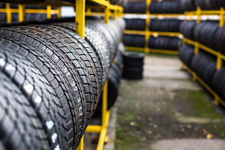 pneumatic tyres: Tires for sale at a tire store