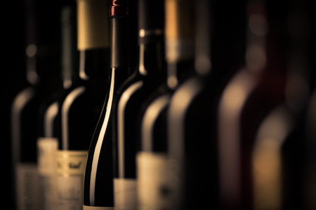 bouteilles de vin  Banque d'images