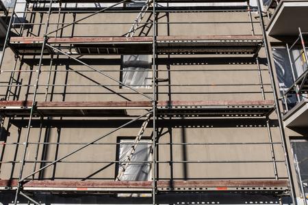 concrete commercial block: Residential building construction site