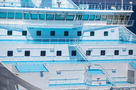 lifeboats: Cruise ship deck view