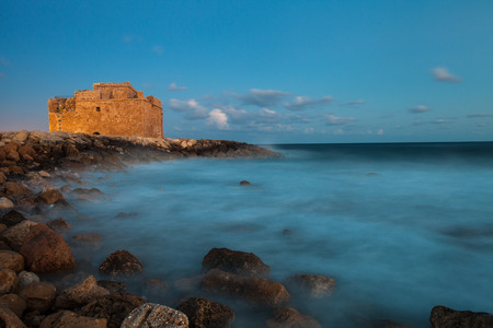 Late afternoon view of the Paphos Castle (Paphos, Cyprus) Stock Photo