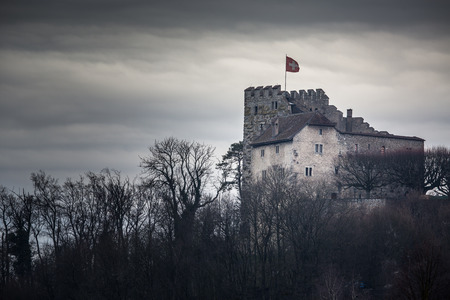 Habsburg Castle located in the Aargau, Switzerland Editorial