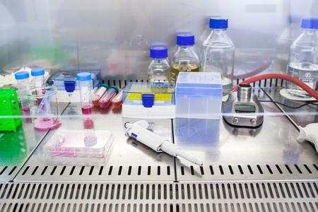 scientific equipment: Chemistry lab (color toned image; shallow DOF) Stock Photo