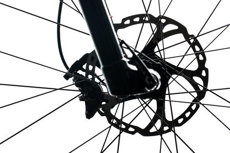 현대 MTB 경주 산악 자전거 스튜디오에서 흰색에 격리