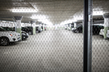 Underground parkinggarage (shallow DOF; color toned image)