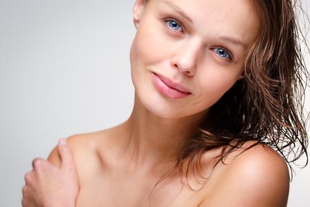 Beauty portrait of a beautiful female model (color toned image)