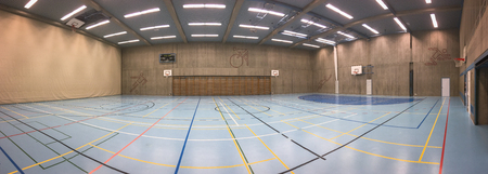 Panorama de la salle de sport moderne