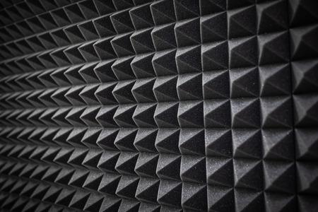 Foam soundproofing coating close-up. Recording studio details Reklamní fotografie