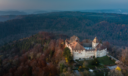 Kyburg castle located between Zurich and Winterthur, Switzerland