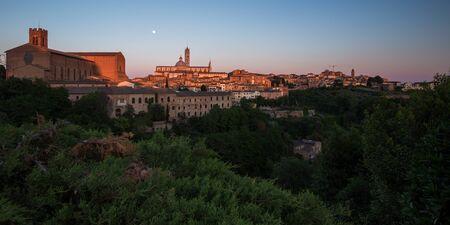 Siena at Sunset, Tuscany, Italy