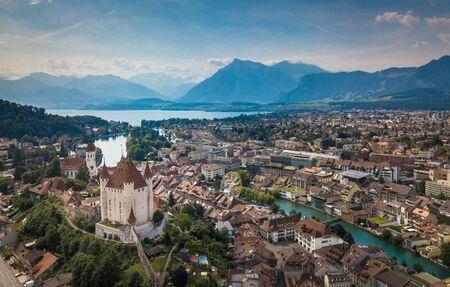Vue aérienne de Thoune, Suisse Banque d'images