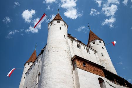 Castle (Schloss Thun) against lovely blue sky