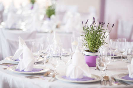 Lovely wedding venue - Wedding reception room, tables set and ready