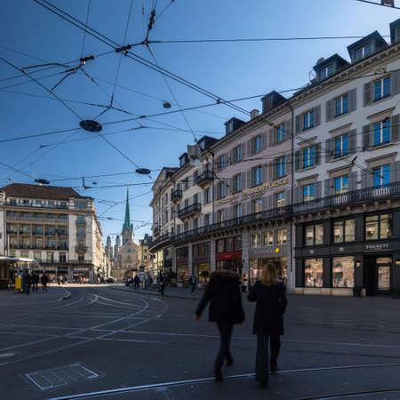 Paradeplatz square Zurich city, Switzerland Standard-Bild