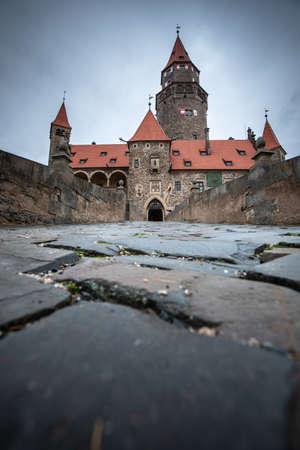 Medieval majestic and romantic gothic castle Bouzov, Czech republic Editorial