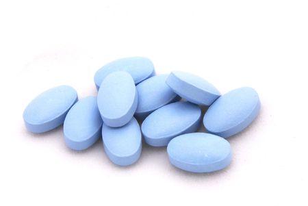 lasting: The blue pill Stock Photo