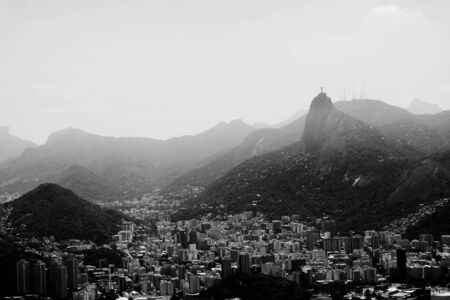 aerial view of Botafogo and the sugar loaf in rio de Janeiro brazil.. 写真素材