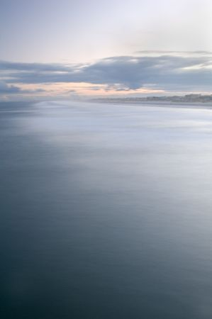 Long exposure of the sea from offshore photo