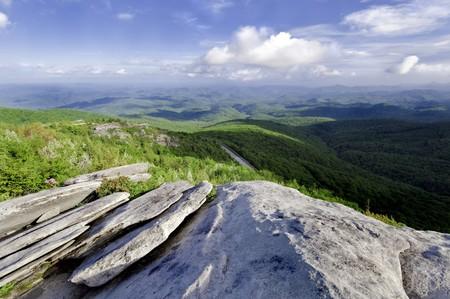 Beautiful view looking down on the Blue Ridge Parkway. North Carolina, USA photo