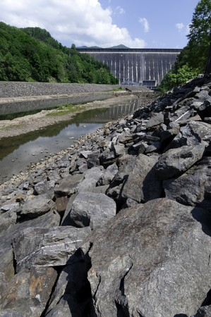 Fontana Dam - on the Little Tennesse River in North Carolina photo