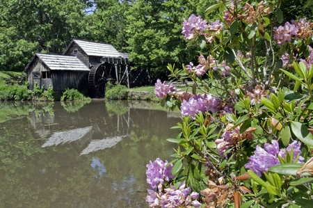 Historic Mabry Mill is a beautiful working watermill located in Floyd County Virginia, on the Blue Ridge Parkway. photo