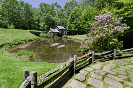 grist mill: Historic Mabry Mill is a beautiful working watermill located in Floyd County Virginia, on the Blue Ridge Parkway.