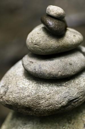 Stacked River Stones - symbolizing balance and harmony