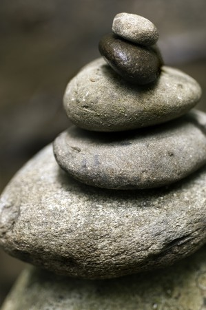 Stacked River Stones - symbolizing balance and harmony photo