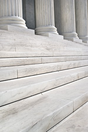 supreme court: Stairs and Columns of the United States Supreme Court in Washington DC Stock Photo