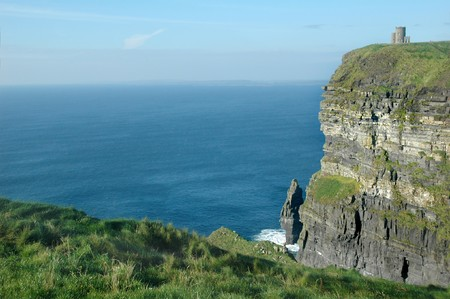 Obriens tower at the cliffs of moher photo