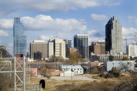 downtown capitol: Skyline of The North Carolina state capitol, Raleigh on a sunny day