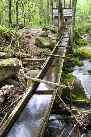 grist: Vecchio mulino grist in Great Smoky Mountains National Park  Archivio Fotografico