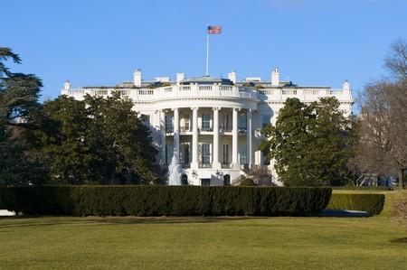 george washington: La casa blanca, en Washington DC  Foto de archivo