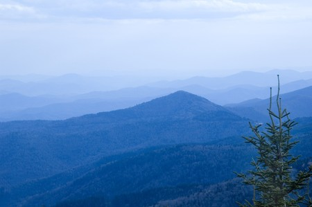blue ridge: Blue Ridge Mountains, North Carolina
