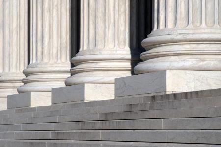 court judgment: United States Supreme Court Steps Stock Photo