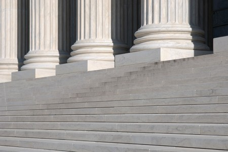 legal court: United States Supreme Court Steps Stock Photo