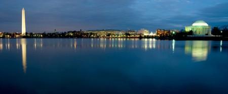 밤에는 워싱턴 DC의 아름다운 전경