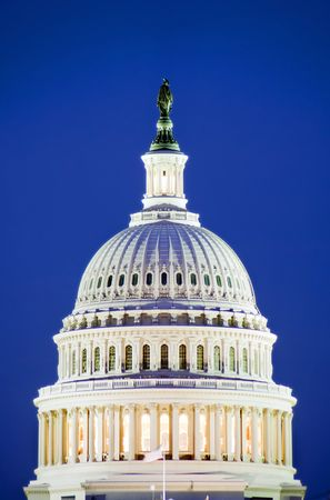 The United States Capitol Building at sunset. photo