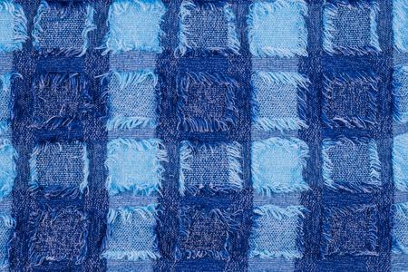microfiber: blue microfiber texture denim for background Stock Photo