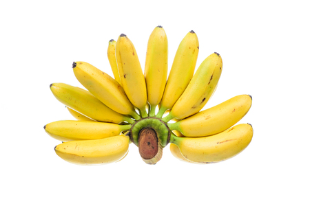 Thai banana isolated on white background