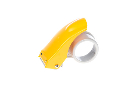 packing tape: Packing Tape Dispenser on a White Background
