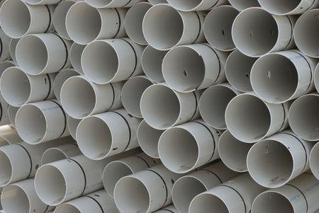 drain field pipe Stock Photo