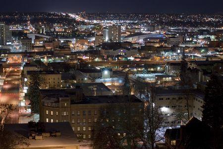down lights: Spokane cliff park