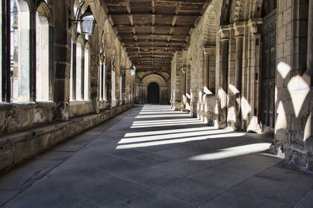 durham: The Cloisters in Durham Cathedral NE England United Kingdom