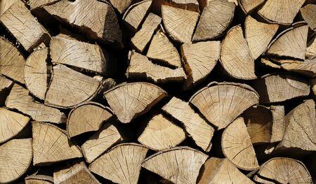 Pile of chopped firewood. 版權商用圖片