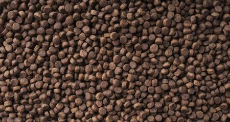 Dry food for cats and dogs. Pet meal background texture. Standard-Bild - 138079791