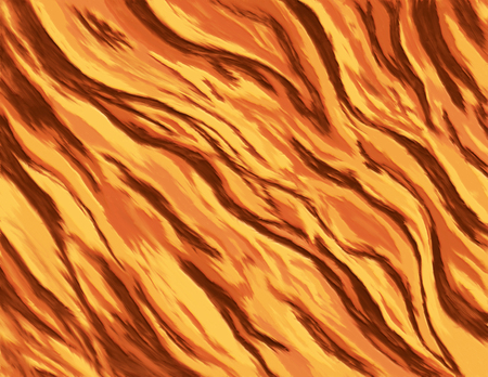 abstract illustration of a burning fire with wild yellow flames