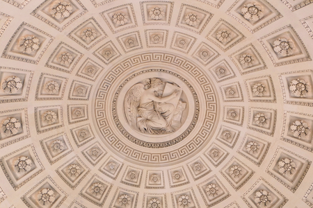 inside of a cupola, ornate ceiling with a dome
