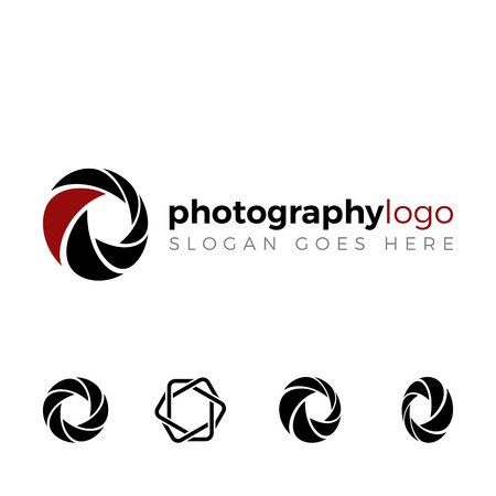 Modern shutter logo sets for photography logo