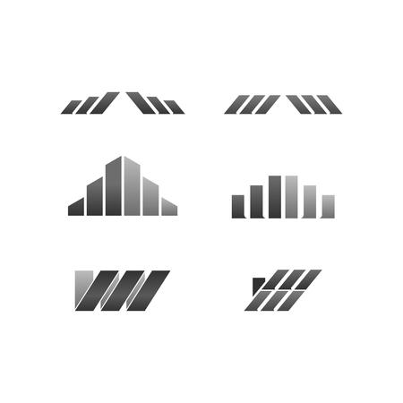 W and W logo modern line set